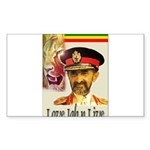 love JAH JAH Rectangle Sticker
