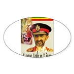 love JAH JAH Oval Sticker