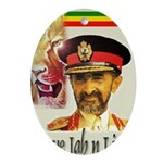 love JAH JAH Oval Ornament