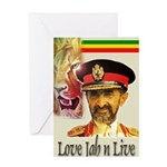 love JAH JAH Greeting Card