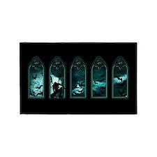 Gothic Bat Windows Area Rug