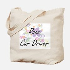 Race Car Driver Artistic Job Design with Tote Bag
