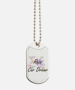 Race Car Driver Artistic Job Design with Dog Tags