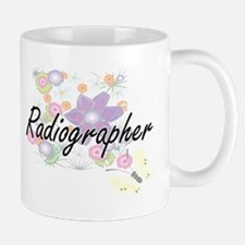 Radiographer Artistic Job Design with Flowers Mugs