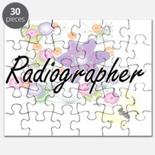 Radiographer Artistic Job Design with Flowe Puzzle