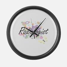 Radiologist Artistic Job Design w Large Wall Clock
