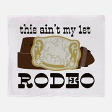 My 1st Rodeo Throw Blanket