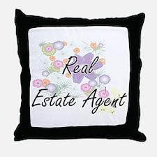 Real Estate Agent Artistic Job Design Throw Pillow