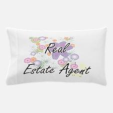Real Estate Agent Artistic Job Design Pillow Case