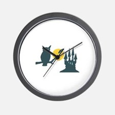 Owl Silhouette Wall Clock