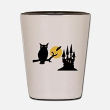 Owl Silhouette Shot Glass