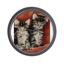 Maine Coon Kittens Wall Clock