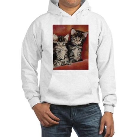 Maine Coon Kittens Hooded Sweatshirt