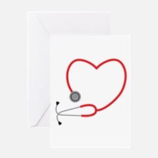 Heart Stethescope Greeting Cards