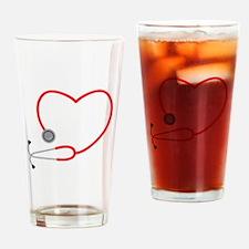 Heart Stethescope Drinking Glass