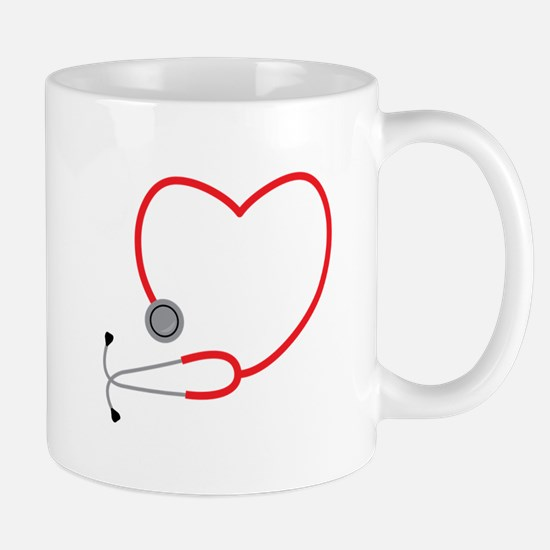 Heart Stethescope Mugs