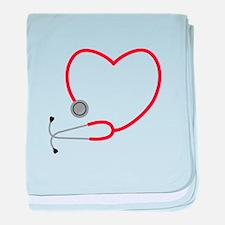 Heart Stethescope baby blanket