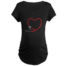 Heart Stethescope Maternity T-Shirt