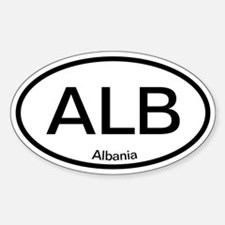 ALB Albania Oval Decal