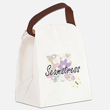 Seamstress Artistic Job Design wi Canvas Lunch Bag