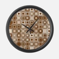 Browns and tans Large Wall Clock