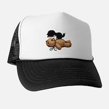 Cute Bear And Black Cat Trucker Hat