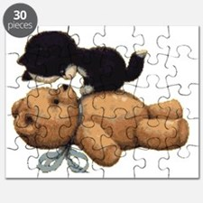 Cute Bear And Black Cat Puzzle