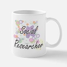 Social Researcher Artistic Job Design with Fl Mugs
