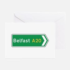 Belfast Roadmarker, UK Greeting Cards (Pk of 10)