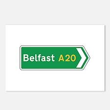 Belfast Roadmarker, UK Postcards (Package of 8)