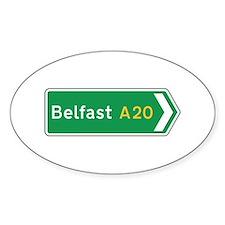 Belfast Roadmarker, UK Oval Decal