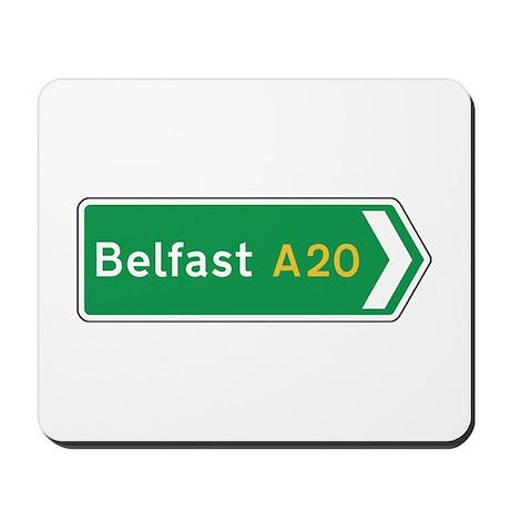 Belfast Roadmarker, UK Mousepad