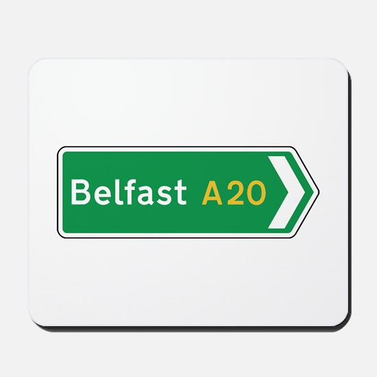 Belfast Roadmarker, UK Mousepad