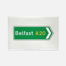 Belfast Roadmarker, UK Rectangle Magnet