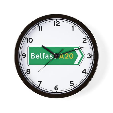 Belfast Roadmarker, UK Wall Clock