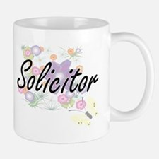 Solicitor Artistic Job Design with Flowers Mugs