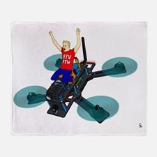 Cute Drone Throw Blanket