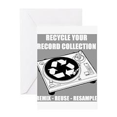 DJ'S RECYCLE Greeting Card