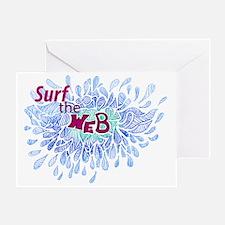 Cute Web surfer Greeting Card