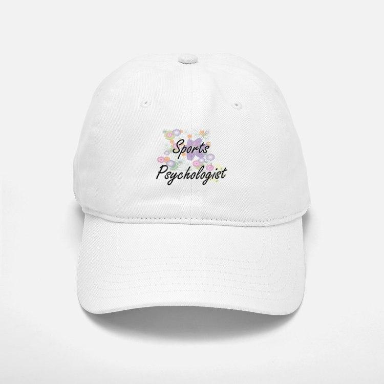 Sports Psychologist Artistic Job Design with F Baseball Baseball Cap