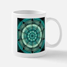 Radial dark turquoise Mugs