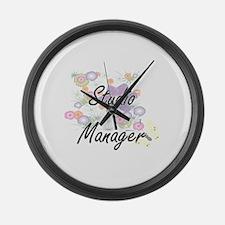 Studio Manager Artistic Job Desig Large Wall Clock