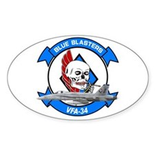 VFA-34 Blue Blasters Oval Decal