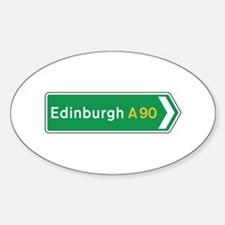 Edinburgh Roadmarker, UK Oval Decal