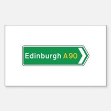 Edinburgh Roadmarker, UK Rectangle Decal