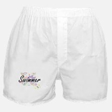 Swimmer Artistic Job Design with Flow Boxer Shorts