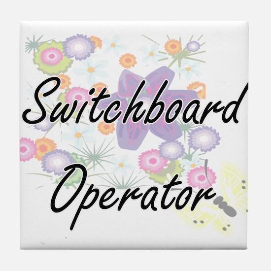 Switchboard Operator Artistic Job Des Tile Coaster