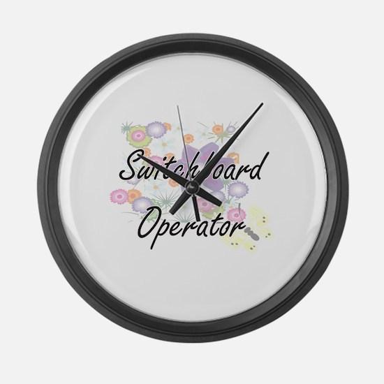 Switchboard Operator Artistic Job Large Wall Clock