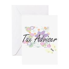 Tax Adviser Artistic Job Design wit Greeting Cards