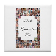 Cute Remember me Tile Coaster